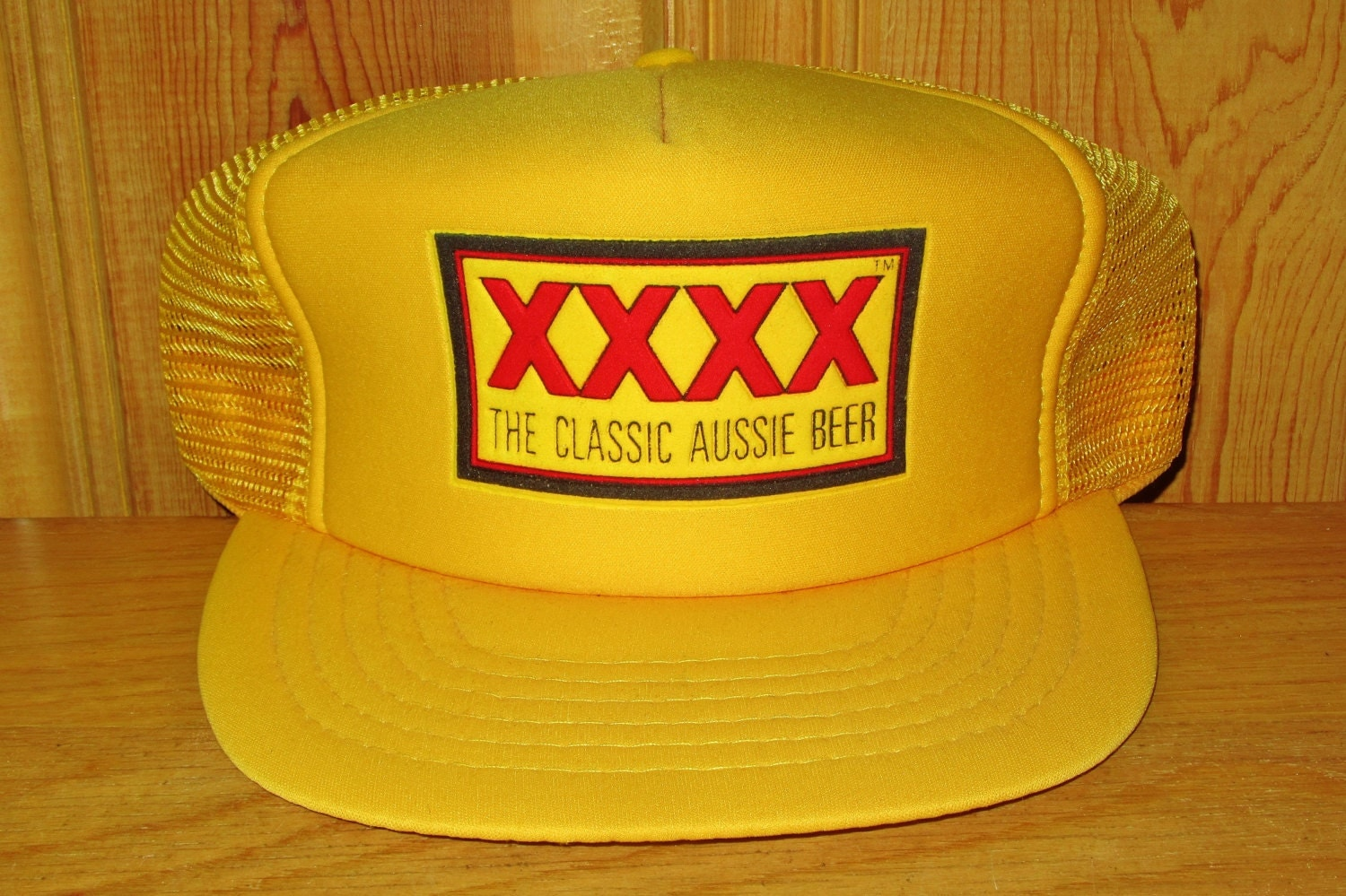 XXXX The Classic Aussie Beer Original Vintage 80s Yellow Mesh