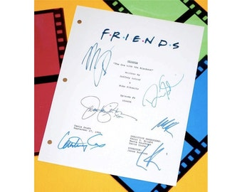 """Friends """"The One With The Blackout"""" TV Script Autographed: Jennifer Aniston, Courtney Cox, David Schwimmer, Matthew Perry, Lisa Kudrow"""