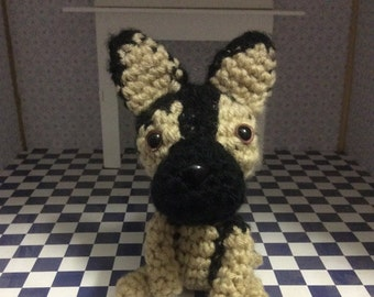 German Shepherd Stuffed Animal, Plush Toy, Amigurumi