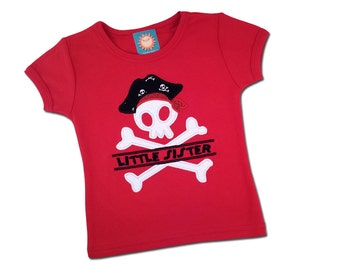 Girl's Little Sister Pirate Shirt