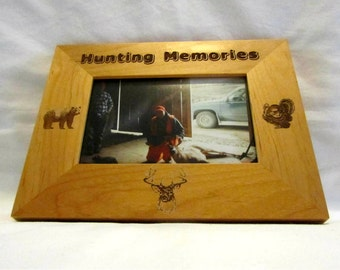 Personalized Wooden Picture Frame- Hunting Memories