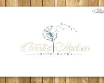 Pre made logo , Photography logo and Watermark - Retro Dandelion