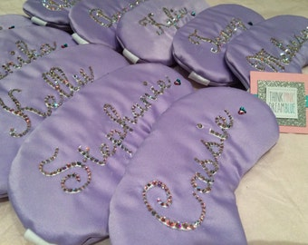 Party Pack of 10 Custom Name Sleeping Mask