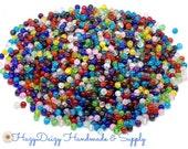100 - Assorted Single - Color Crackle Beads, 6mm  - Sku#139