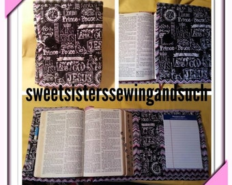 Lamb of God Tri fold Bible Cover pockets to keep tithe evelopes, business cards, a pad of paper and pens plus your Bible