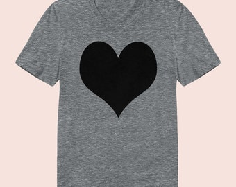 Heart -  Women's Slim Fit TShirt, Graphic Tee, American Apparel, Short Sleeve Shirt, T Shirt