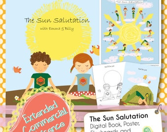 sun salutation  etsy