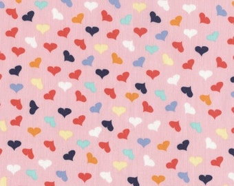 French Lessons - Scattered Hearts Pink - Dear Stella (Stella-JL388-PINK)