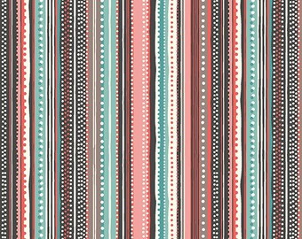 SALE Cats - Stripe Slate - Makower UK - Andover (1313-T)