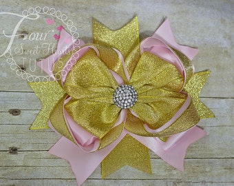 Add a Deluxe Boutique Hair Bow Made to Match my Order