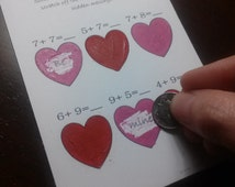 """DIY Scratch Ticket Valentine Printable with Easy Tutorial for """"Scratch Off"""" Layer -- Printable Valentines"""