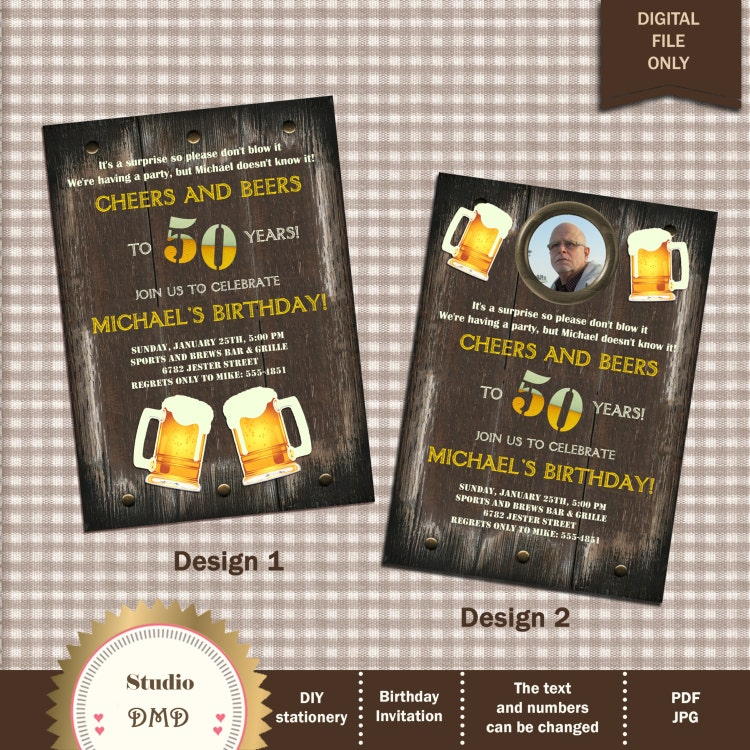 Birthday Party Games Are Hilarious For 8 9 10 11 And 12: Beer Cheers Invitation Adult Birthday Grooms Party By