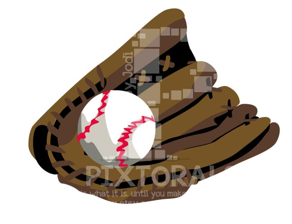 Softball glove clipart