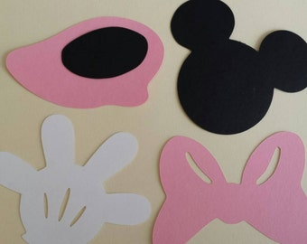 Minnie Mouse Paper Cutout 10 inchs
