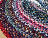 Will Custom make- Braided Wool Oval Rug with rich scrappy color!