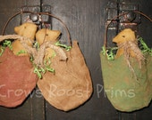 3 Primitive Easter Chicks in a Half Shell