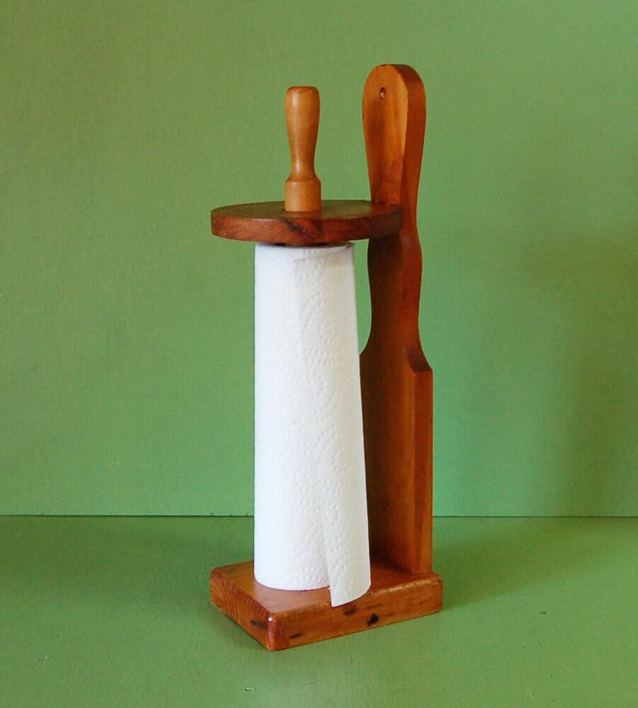 Vintage Towel Storage: Wooden Paper Towel Holder Vintage Paper By PineSpringsCottage
