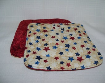 Memorial Day, 4th of July Potholders -- Set of 2