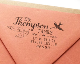 Custom Return Address Rubber Stamp - Rustica No. 1