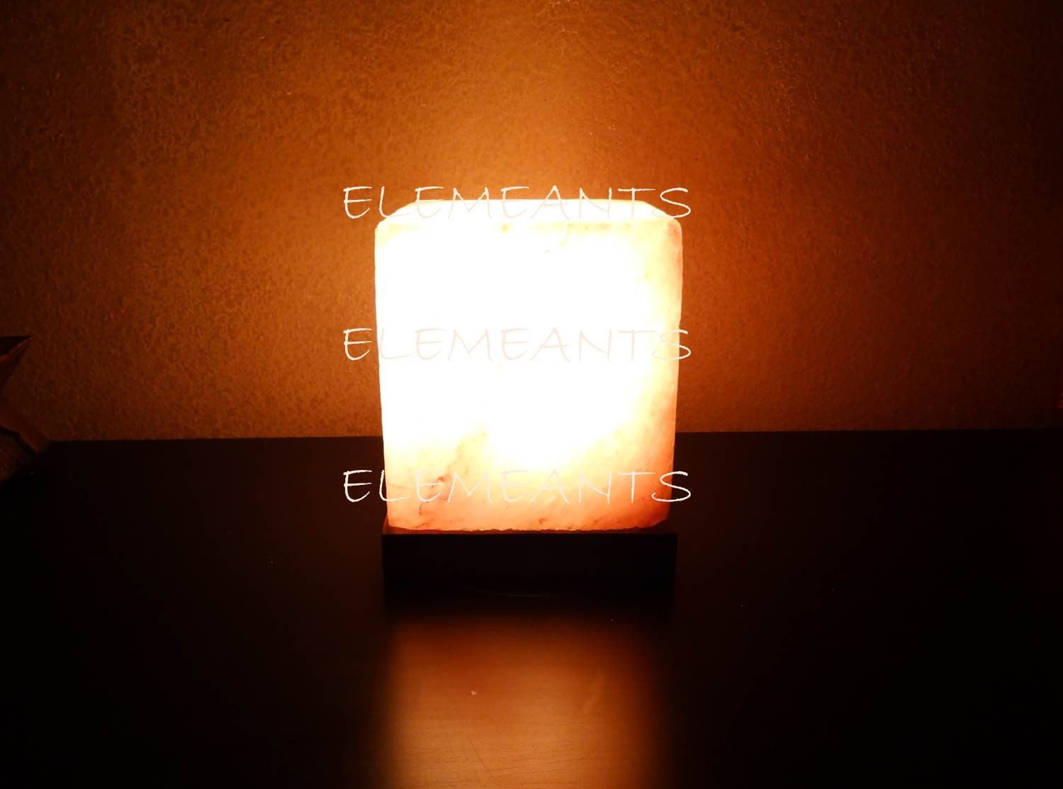 Rock Salt Lamps Reviews : FREE DIMMER Large Himalayan Salt Rock CUBE Lamps by ELEMEANTS