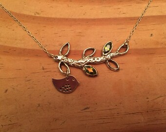 Mama Bird and Branch Necklace