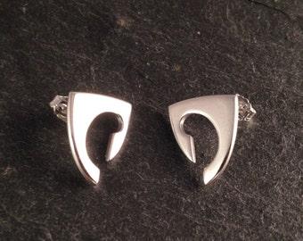 Celtic revival inspired sterling silver earrings