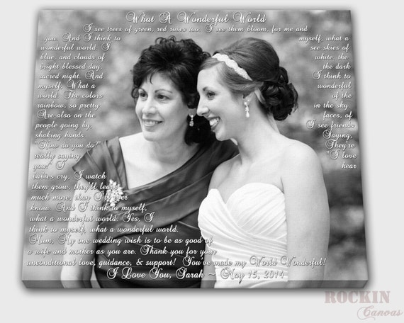 Parent Wedding Gift Quotes : Mother Wedding Gift Daughter Quote Gift for Mom Parents gift Wedding ...