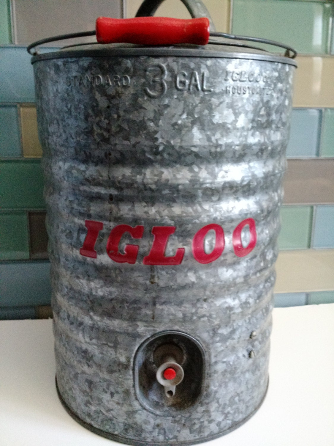 Vintage igloo 3 gallon water cooler by decotraveler on etsy - Igloo vintage ...