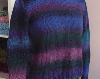 SALE -25 Per Cent (was 100.00 euro) 100% Lambswool hand knitted sweater