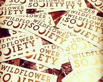 Metallic gold die cut stickers