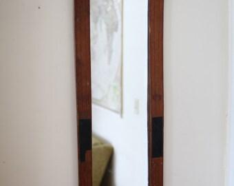 Handmade Antique Ski Mirror