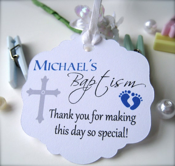 Baby Baptism Favor Tags Christening Favor Tags By