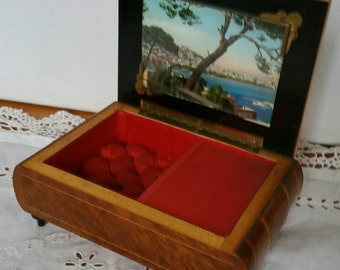 Vintage Music Jewellery Box From Italy