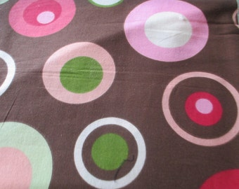 Circles and dots cotton fabric