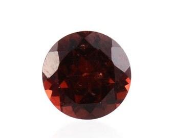 Mozambique Red Garnet Loose Gemstone Round Cut 1A Quality 6mm TGW 0.85 cts.