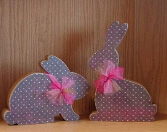 Easter Decor- Spring Decor- Bunny Decor- Chocolate Bunnies