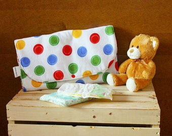 Diaper clutch - Monsters and colorful circles