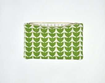 On sale!! VINTAGE ZIP PURSE #45 The small one / geometric pattern