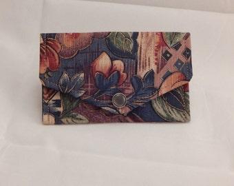Floral Print Mini Wallet