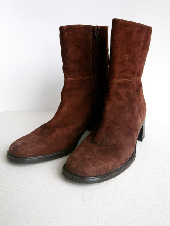 coach brown suede vintage boots s size by