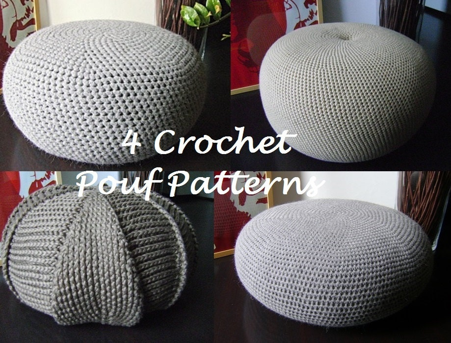 CROCHET PATTERN Crochet Pouf Floor cushion Patterns