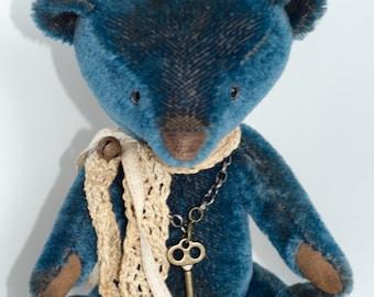 Blue Mohair Bear