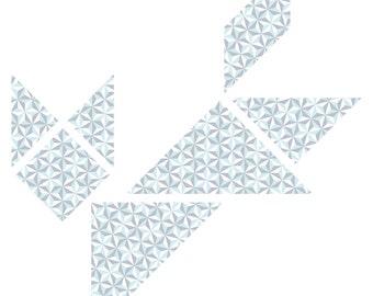 DIY tangram wall decal Thomas