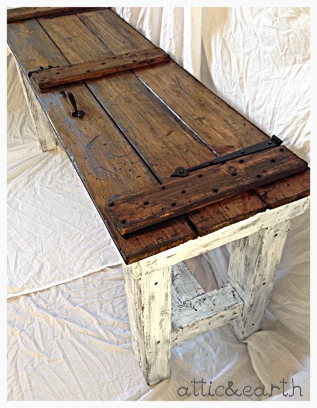 Barn Door Sofa Table By Atticandearth On Etsy