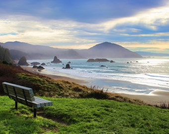 Port Orford, Wayside, Mountains, Pacific Coast, Bench, Oregon