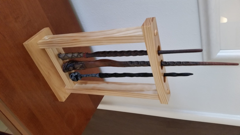 magic wand holder custom holds 3 wands table mount holder. Black Bedroom Furniture Sets. Home Design Ideas