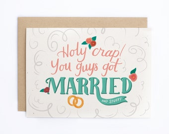 Funny Wedding Card, Engagement Card, Card for Couple, Funny Engagement Card, Congratulations Card, Anniversary Card, Love Card/C-228