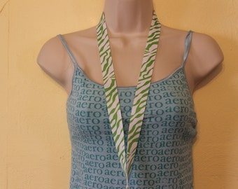 Green zebra print lanyard/ID/badge/key holder