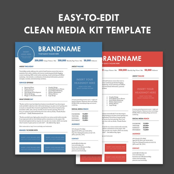 Media Kit Press Kit Templates Easy To Edit Clean & High