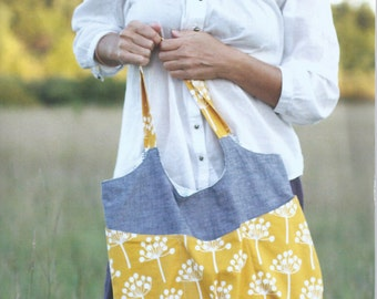 Go Anywhere Bag Pattern by Noodlehead-- Purse Sewing Pattern-- Tote Bag Sewing Pattern